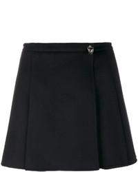 schwarzer Minirock mit Falten von Valentino