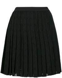 schwarzer Falten Rock von Versace