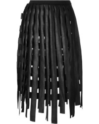 schwarzer Fransen Bleistiftrock von Aviu