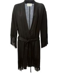 schwarzer Fransen Kimono von Forte Forte