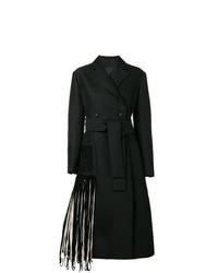 schwarzer Mantel mit Fransen von Proenza Schouler