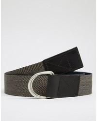 schwarzer geflochtener Ledergürtel von Asos