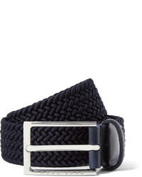 schwarzer geflochtener Ledergürtel von Hugo Boss
