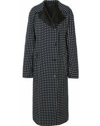 schwarzer gepunkteter Mantel