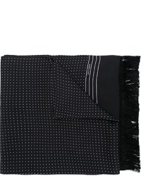 Schwarzer gepunkteter Schal von Dolce & Gabbana