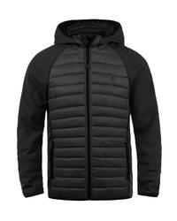schwarzer gesteppter Pullover mit einem Kapuze von BLEND