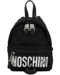 schwarzer gesteppter Rucksack von Moschino