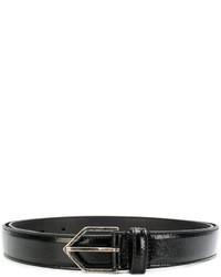 schwarzer Gürtel von Saint Laurent