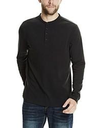 schwarzer Henley-Pullover von Bench