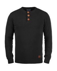 schwarzer Henley-Pullover von BLEND