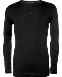 schwarzer Henley-Pullover von Dolce & Gabbana