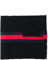 schwarzer horizontal gestreifter Schal