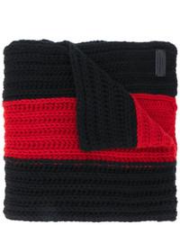 schwarzer horizontal gestreifter Schal von Dsquared2