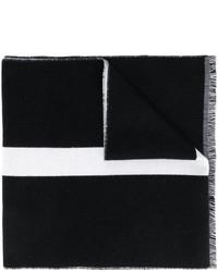 schwarzer horizontal gestreifter Schal von Givenchy