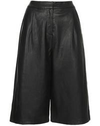 schwarzer Hosenrock aus Leder