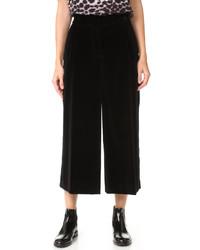 schwarzer Hosenrock aus Samt von Marc Jacobs