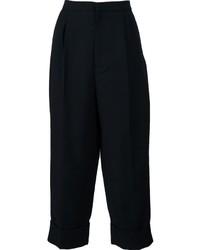 schwarzer Hosenrock aus Seide von Marni