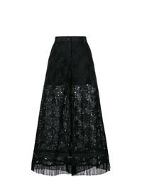 schwarzer Hosenrock aus Spitze von Sacai