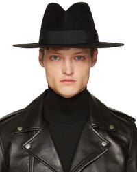 schwarzer Hut von Saint Laurent