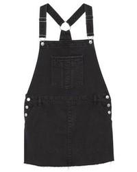 schwarzer Jeans Kleiderrock von Mango