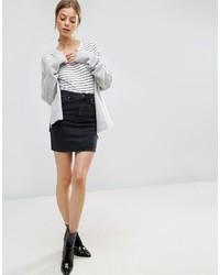 schwarzer Jeans Minirock von ASOS DESIGN