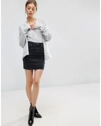 schwarzer Jeans Minirock von Asos