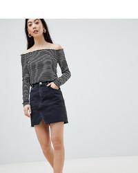 schwarzer Jeans Minirock von Asos Petite