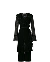 schwarzer Jumpsuit aus Spitze mit Rüschen von Marc Jacobs