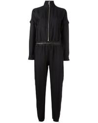 schwarzer Jumpsuit aus Spitze von Versace