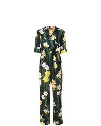 schwarzer Jumpsuit mit Blumenmuster von Dolce & Gabbana