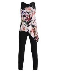Modische schwarzen Jumpsuit mit Blumenmuster für Winter 2019 kaufen ... 17d4ee4d40