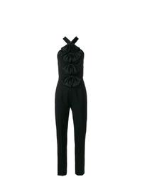 schwarzer Jumpsuit mit Rüschen von Givenchy