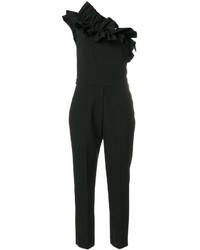 schwarzer Jumpsuit mit Rüschen von MSGM