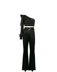 schwarzer Jumpsuit mit Rüschen von Philipp Plein