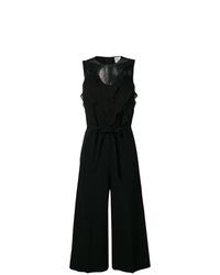schwarzer Jumpsuit mit Rüschen von RED Valentino