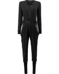 schwarzer Jumpsuit von Balmain