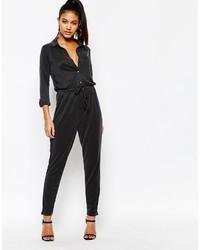 schwarzer Jumpsuit von Lipsy