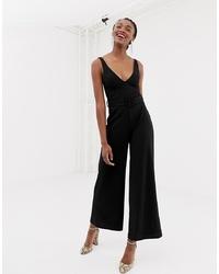 schwarzer Jumpsuit von New Look