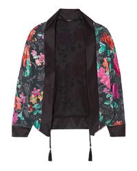 schwarzer Kimono mit Blumenmuster von Etro