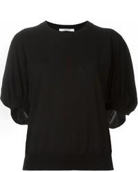 schwarzer Kurzarmpullover von Givenchy