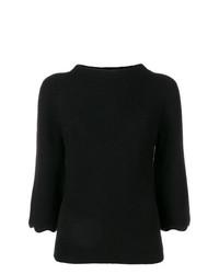 schwarzer Kurzarmpullover von RED Valentino