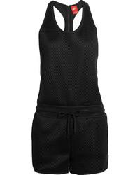 schwarzer kurzer Jumpsuit aus Netzstoff von Nike