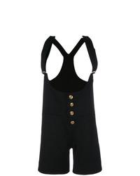 schwarzer kurzer Jumpsuit mit Rüschen von Chloé