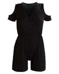 schwarzer kurzer Jumpsuit von Dorothy Perkins