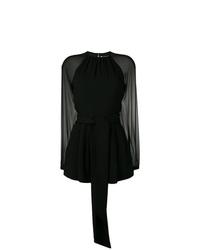 schwarzer kurzer Jumpsuit von Saint Laurent