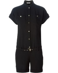 schwarzer kurzer Jumpsuit von Versace