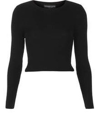 schwarzer kurzer Pullover