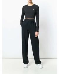 schwarzer kurzer Pullover von adidas