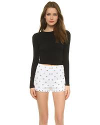 schwarzer kurzer Pullover von Alice + Olivia