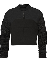 schwarzer kurzer Pullover von Balenciaga